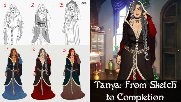Tanya: From Sketch to Completion (Wicked Willow)