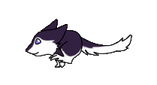 Purple Sergal is running by Cristaleyes