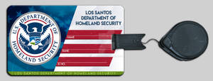 GTA V RP ID card badge (homeland security)