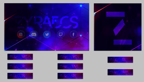 Streamer Pack ( Panels, Avatars Backgrounds )