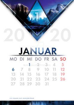 [GER] Kalender Januar / [ENG] Calendar january