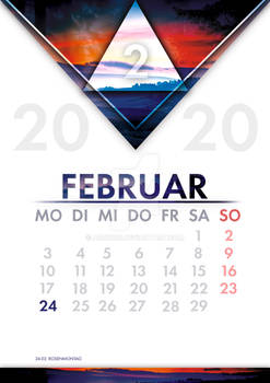 [GER] Kalender Februar / [ENG] Calendar February