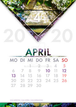 [GER] Kalender April / [ENG] Calendar April