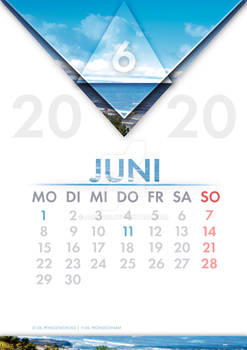 [GER] Kalender Juni / [ENG] Calendar June