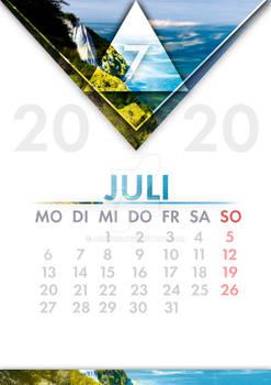 [GER] Kalender Juli / [ENG] Calendar July