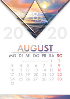 [GER] Kalender August / [ENG] Calendar August