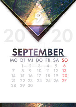 [GER] Kalender September /[ENG] Calendar September