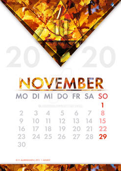 [GER] Kalender November /[ENG] Calendar November