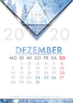 [GER] Kalender Dezember /[ENG] Calendar December