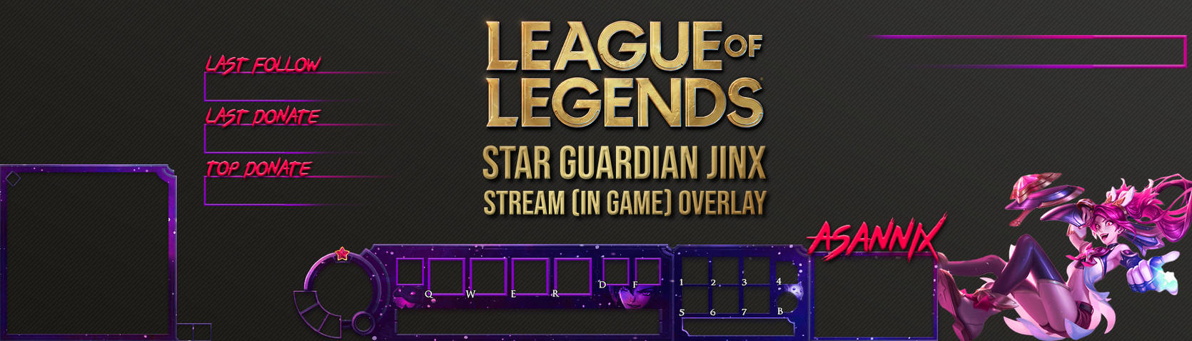LEAGUEOFLEGENDS STAR GUARDIAN JINX STREAM OVERLAY