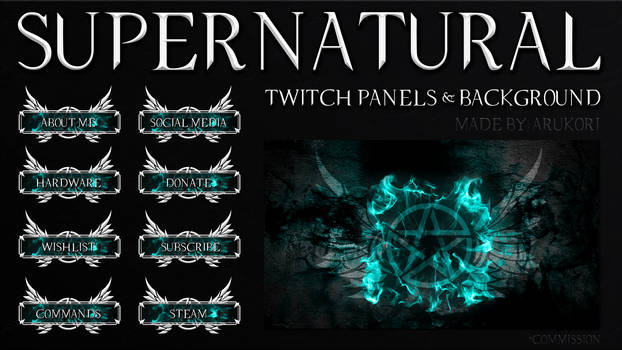 SUPERNATURAL TWITCH PANELS AND BACKGROUND
