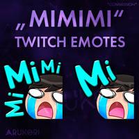 MIMIMI / CRY TWITCH STREAMER EMOTES