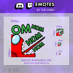 AMONG US OMNOMNOM KILL TWITCH / DISCORD EMOTE