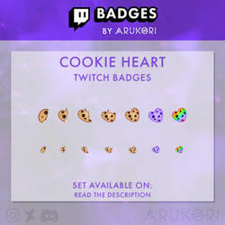 COOKIE HEART TWITCH BADGES