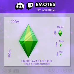 THE SIMS PLUMBOB / CRYSTAL TWITCH / DISCORD EMOTE