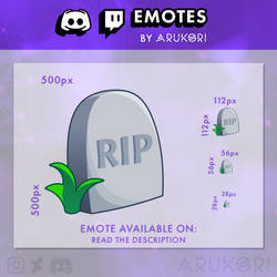 THE SIMS RIP TOMBSTONE TWITCH DISCORD EMOTE