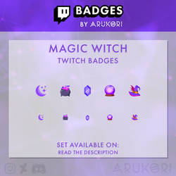 MAGIC WITCH TWITCH BADGES