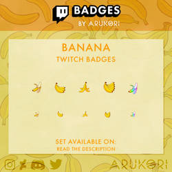 BANANA TWITCH BADGES