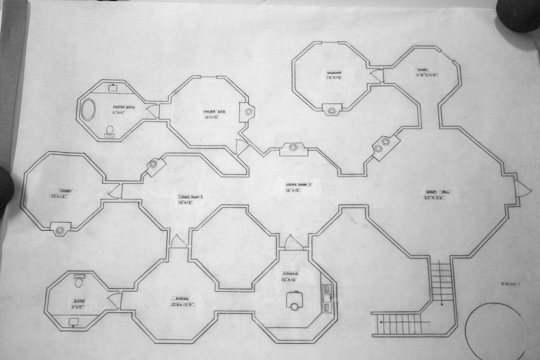 Hobbit hole floor plan by dragon11138 on deviantart for Hobbit house drawings