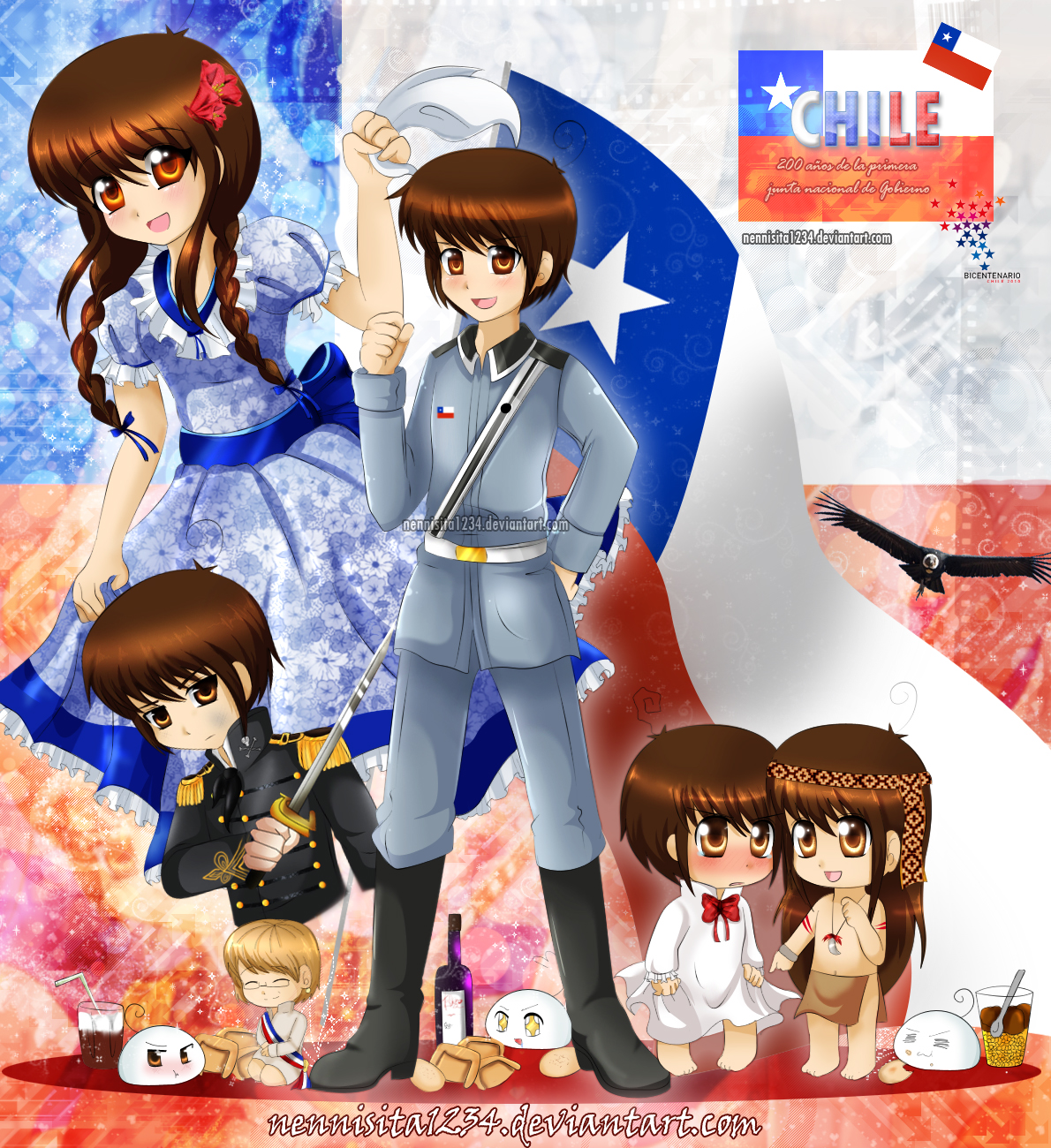 Ficha Chile Htmr__chile_bicentenary_by_nennisita1234-d2yvlsr