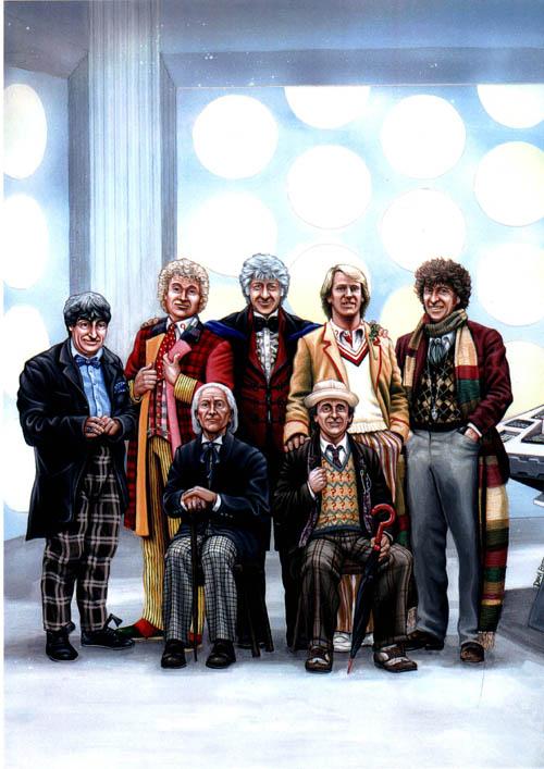 The 7 doctors by DarkAngelDTB