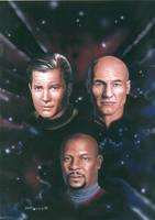 Star Trek Captains by DarkAngelDTB