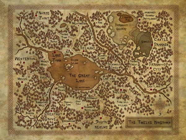 Map of the Twelve Kingdoms by DarkAngelDTB
