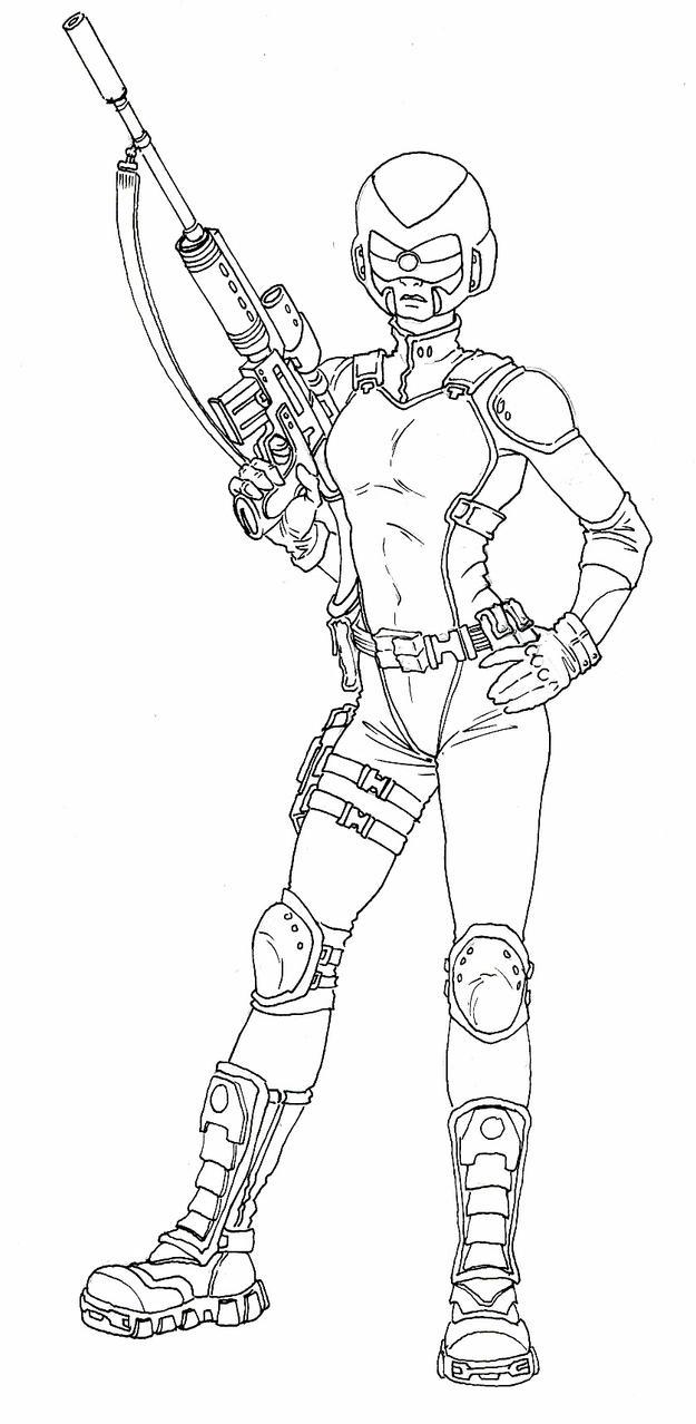 Line Art Unit : Unit marksman line art by darkangeldtb on deviantart