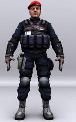 3D Unit Soldier B