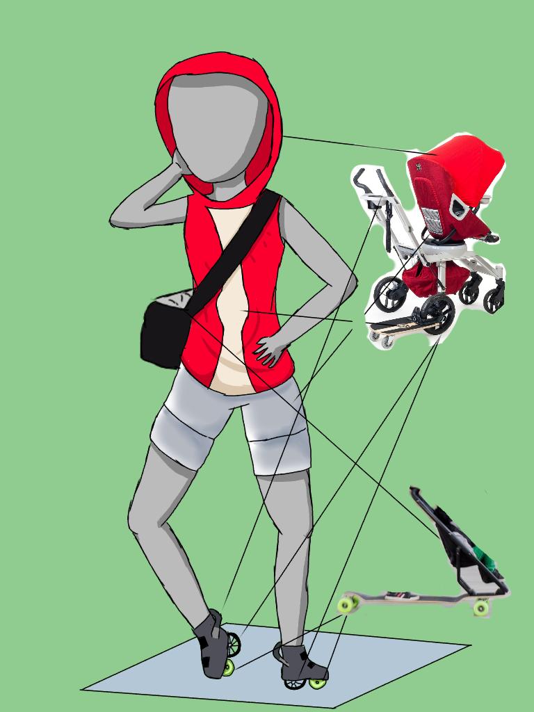 Skateboard Baby Stroller Inspired Outfit By Sesshomarul182 On Deviantart