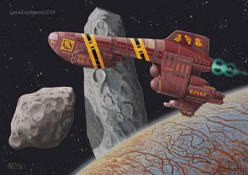 Ugarit explorer ship flyby