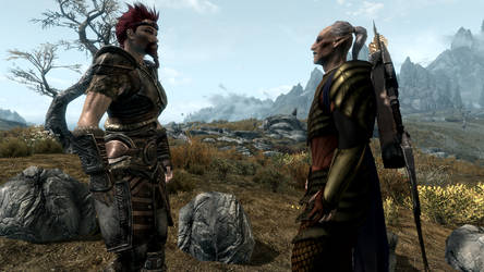 Jayce and Faendal - Tesv 2020 07 05 04 06 56 253 by swept-wing-racer