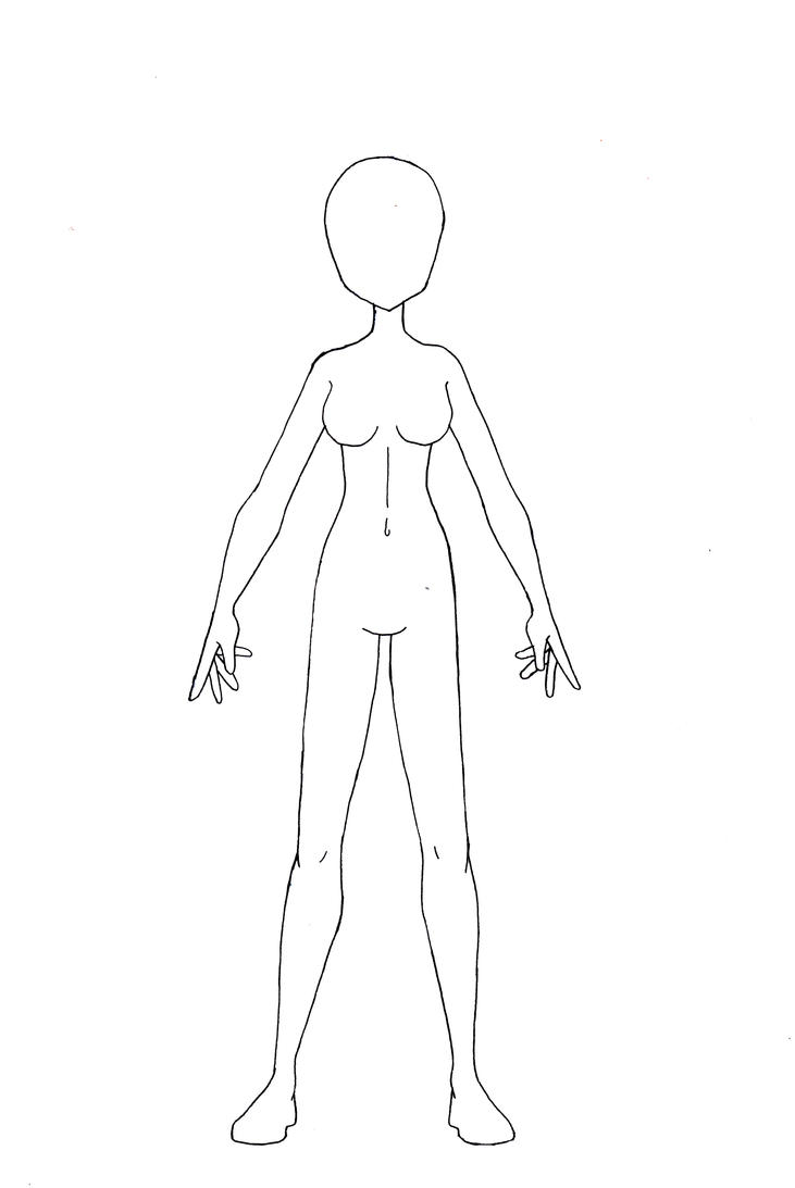 costume drawing template. female template 02 by akiyama24 on deviantart .