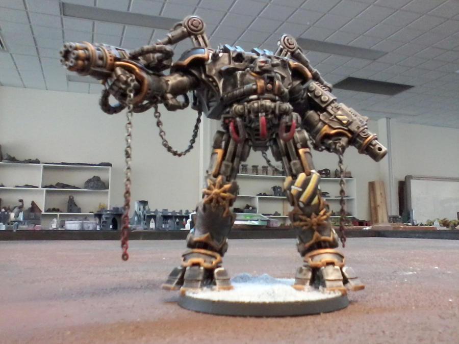 Iron Warrior Daemon Prince by Akiyama24