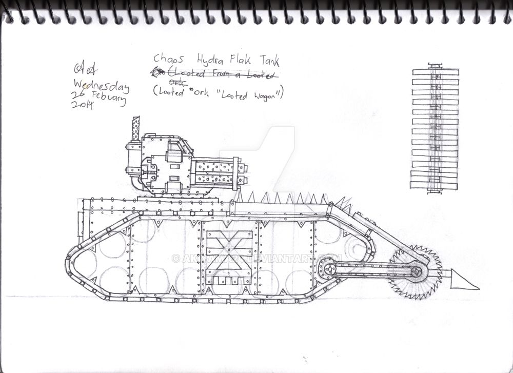 Chaos Hydra Flak Tank Concept by Akiyama24