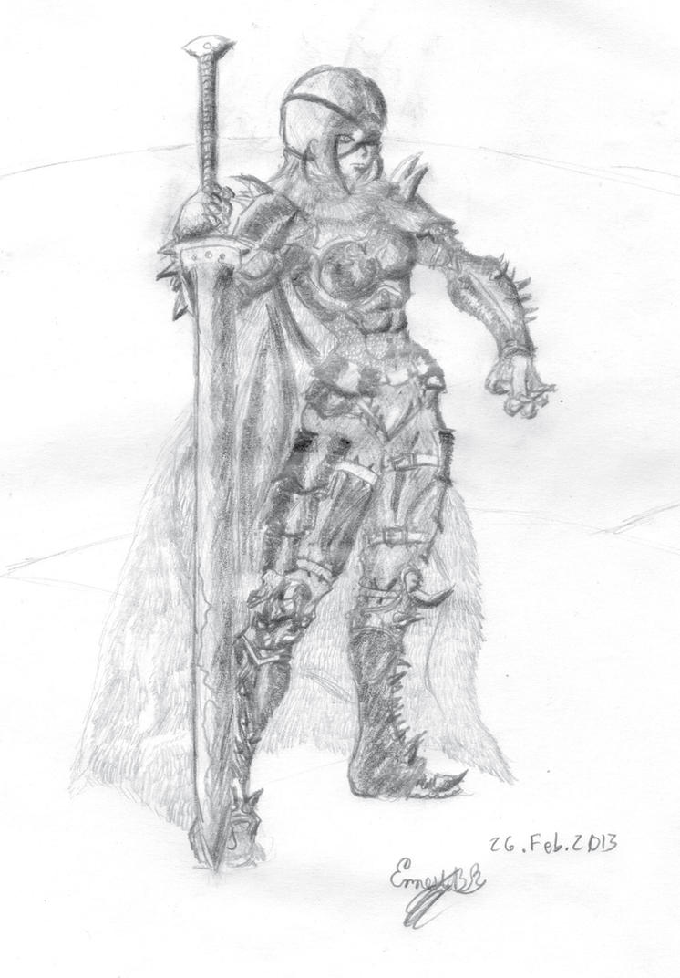 Lady D' Ark Blade by TerribleDarkblade