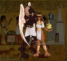 Egyptian Gargoyles by Rascality