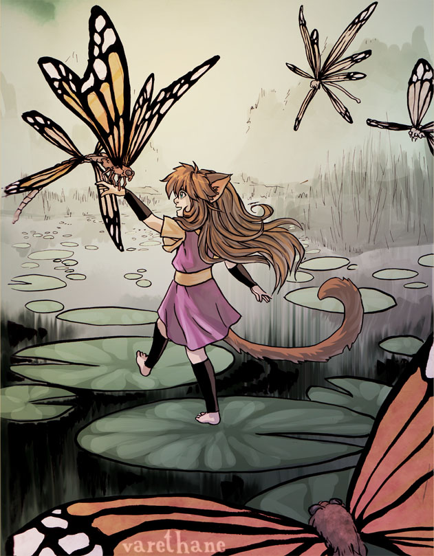 Share Your Finished Illustrations! - Page 5 Lilypads_by_varethane-d81nfnt