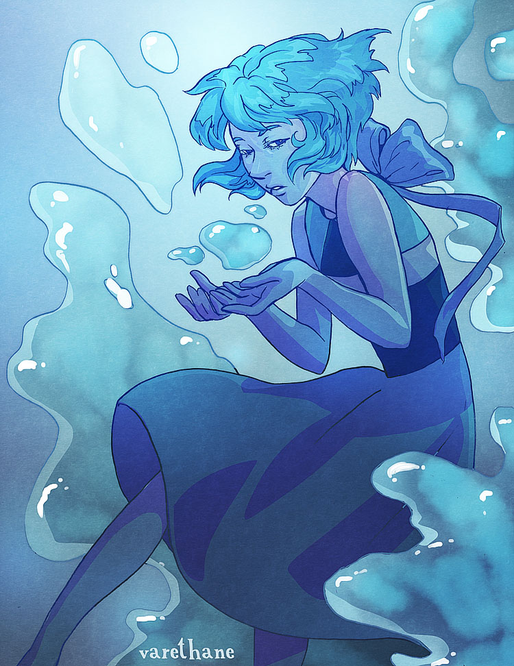 I drew Lapis Lazuli from Steven Universe! Her design is just so pretty ;3;