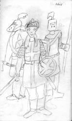 3 Knights by Woaddragon