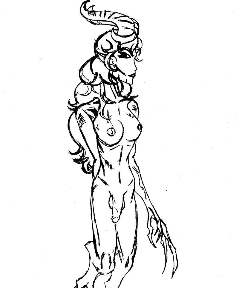 Shub-Niggurath (sketch bw) by ZoKpooL1