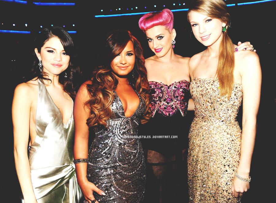 Selena Gomez Demi Lovato Taylor Swift y Katy Perry by ...