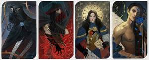 Blue Rose (4 cards)