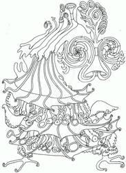 Crazy dancing seahorse