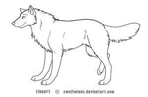 Wolf Lineart by Skaralett