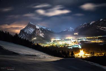 Banff @ night by Knotdeadyet
