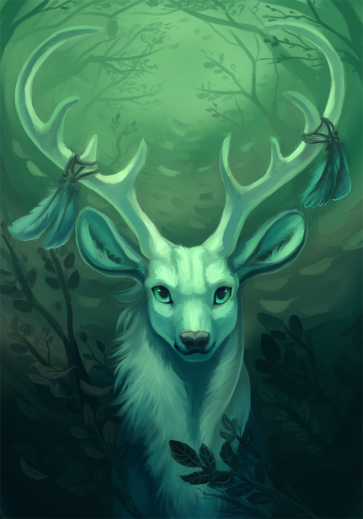 White Stag by fancypigeon