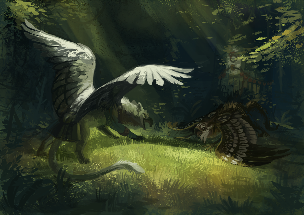 G-Enyo-Young Gryphon-1 by fancypigeon