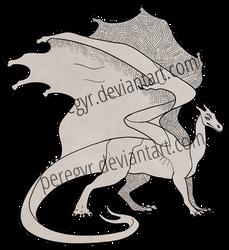 Pern Dragon Template - Gold/Bronze/Brown