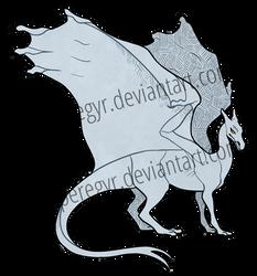 Pern Dragon Template - Blue/Green/White